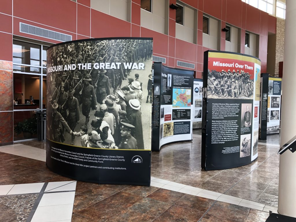 Missouri and the Great War exhibit at OTC Richwood Valley Campus